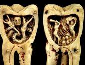 """شاهد.. منحوتة """"ديدان الأسنان"""" كيف رأى الناس الألم وما علاقته بالجحيم؟"""