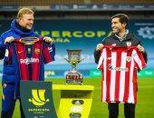 التشكيل الرسمي لمواجهة برشلونة ضد أتلتيك بيلباو .. ميسي أساسيا