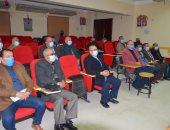 """وكيل """"تعليم بورسعيد"""" يشهد اجتماع رئيس قطاع التعليم العام عبر الفيديو كونفرانس.. صور"""