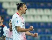 كالياري ضد ميلان .. إبراهيموفيتش يحقق رقمًا لأول مرة فى مسيرته بالشوط الأول