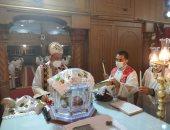 وكيل عام مطرانية كفر الشيخ ودمياط يترأس صلاة عيد الغطاس بكنيسة مار جرجس