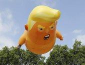 منطاد «ترامب بيبى» يصل محطته الأخيرة فى متحف لندن
