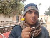 الأسطى عبده.. كفيف منذ 15 عاما ويعمل ميكانيكى سيارات فى المنوفية.. صور