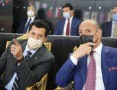 وزير الرياضة يشهد مباراة مصر و الاتحاد الروسى ببطولة العالم لليد بصالة ستاد القاهرة