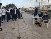 رئيس المقاولون يطالب اللاعبين بمواصلة الانتصارات أمام الأهلي.. صور
