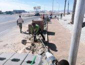 رئيس مدينة الغردقة: رصف الشوارع بعد الانتهاء من توصيلات الغاز والصرف والإنارة.. صور
