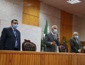 رئيس جامعة المنوفية يشهد ختام الورشة التدريبية لفريق المراجعة الداخلية الخاصة