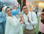 """20 صورة من حفل أول مولود لزوجين شابين تنسف كذبة فرح """"العروس الحامل"""""""