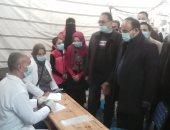 الكشف على 345 مريضا فى قافلة شاملة بقرية العزبة الحمراء بالبحيرة