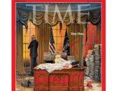 """تركة ثقيلة.. غلاف """"TIME"""" يشفق على بايدن من إرث سلفه ترامب فى اليوم الأول"""