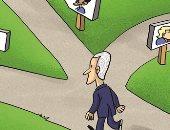 كاريكاتير الاتحاد الإماراتية : أى الطرق يسلك بايدن؟