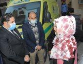 نائب محافظ بنى سويف يتابع مصابى حادث الصحراوى الشرقى بالمستشفى الجامعى