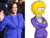 """هل توقع مسلسل """"عائلة سمبسون"""" أن تصبح كامالا هاريس نائبا للرئيس الأمريكى؟"""