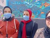 جداريات بأيدى طلاب التربية النوعية تزين أسوار المدارس بكفر الشيخ.. فيديو وصور
