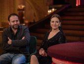 """لأول مرة.. ريهام عبد الغفور وزوجها فى """"لايڤ من الدوبلكس"""""""