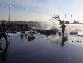 انفجار سيارة تحمل أسطوانات بوتاجاز على طريق القاهرة الإسماعيلية.. فيديو لايف
