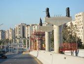 وزارة النقل تنشر صور أعمال تنفيذ قطاع مونوريل العاصمة الإدارية بشارع يوسف عباس
