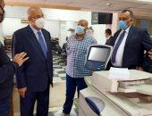 رئيس القابضة لمصر للطيران يتفقد مبنى المطبعة الفنية لمراجعة الإجراءات الاحترازية
