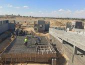 البيئة تنهى 60% من أعمال البنية التحتية لمدفن والمحطة الوسيطة بكوم أوشيم.. صور