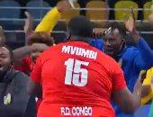 احتفالات مجنونة للاعبى الكونغو بعد الفوز على أنجولا بمونديال اليد.. فيديو