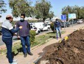 محافظ أسوان يتفقد أعمال الإصلاح لخط مياه الشرب الرئيسى بوسط المدينة