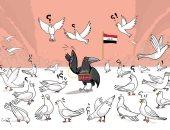 العراق سينتصر على داعش لا محالة فى كاريكاتير إماراتى