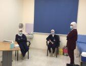 شاهد غرفة تطعيم الأطقم الطبية بلقاح كورونا بمستشفى أبو خليفة بالإسماعيلية..صور وفيديو