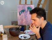 """""""برلين"""" La Casa De Papel يكشف عن مهاراته فى الرسم.. فيديو وصور"""