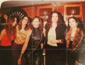 عبير صبري مع غادة عادل ومنى زكي ونيللي كريم في صورة من دولاب الذكريات