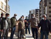 """مسئولو """"الإسكان"""" يتفقدون مشروعات الطرق والإسكان بمدينة القاهرة الجديدة"""