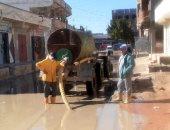 استجابة لسيبها علينا.. شفط مياه الأمطار بعد محاصرتها لمنازل قرية الحويحى بالبحيرة