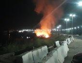 السيطرة على حريق شب فى زراعات بكورنيش مدينة أسوان
