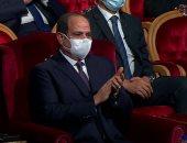 صورة ترصد دموع الرئيس السيسي متأثرًا ببطولة شهداء ومصابى الشرطة