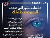 11 علامة تشير إلى ضعف البصر لدى طفلك.. انفوجراف