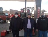 حى الخليفة يغلق محطة وقود مخالفة لاشتراطات الحماية المدنية