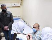 محافظ الفيوم يشهد فعاليات تلقى لقاح كورونا للأطقم الطبية بمستشفى العزل.. صور