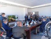 وزيرا الزراعة والرى يضعان حجر الأساس لمشروع الرى الحديث بالمنيا