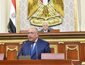 سامح شكرى أمام النواب: نتصدى لمحاولات نفاذ التنظيمات الإرهابية من الصحراء الغربية
