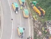 21 قتيلا و33 مصابا فى حادث حافلة جنوب البرازيل ..صور وفيديو