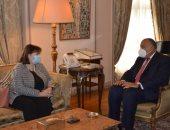 شكرى يطلع مسؤولة أوروبية على جهود مصر لتحريك جهود السلام بالشرق الأوسط