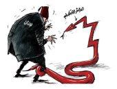 """كاريكاتير صحيفة سعودية.. التراجع الاقتصادى """"ثعبان"""" يلتهم لبنان"""