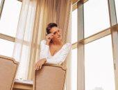 """أول صورة لـ نيللى كريم فى كواليس مسلسلها """"ضد الكسر"""""""