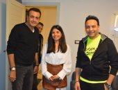 أسامة منير يحتفل بمرور 13 سنة على راديو محطة مصر مع مصطفى قمر