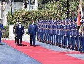 شاهد مراسم الاستقبال الرسمى لرئيس الكونغو الديمقراطية بقصر الاتحادية