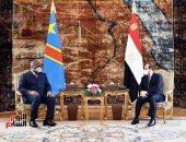 الرئيس السيسى يستقبل نظيره الكونغولى بقصر الاتحادية.. ألبوم صور