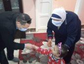 وكيل صحة بالمنوفية يتفقد دار الأطفال المعثور عليهم بالمركز الصحى بميت خاقان