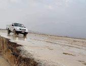 تواصل جريان مياه الأمطار بوديان وسط سيناء .. صور
