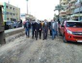 محافظ كفر الشيخ يتفقد بدء رصف طريق سخا وتطوير الشوارع والمحاور الجديدة