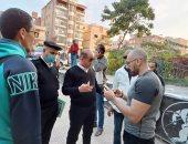 حى ثالث الإسماعيلية وشرطة المرافق يشنان حملة على الإشغالات