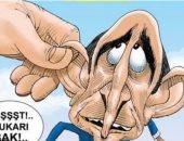 أردوغان يتحكم فى رؤساء الجامعات ويمارس قمعه فى كاريكاتير تركى